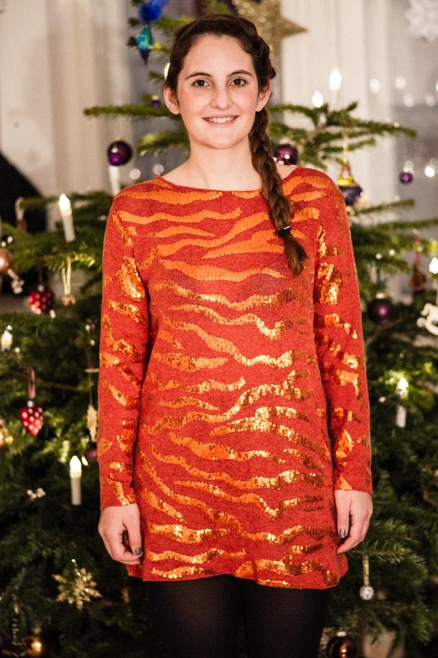 Genäht - Kleid für Weihnachten / Paillettenkleid