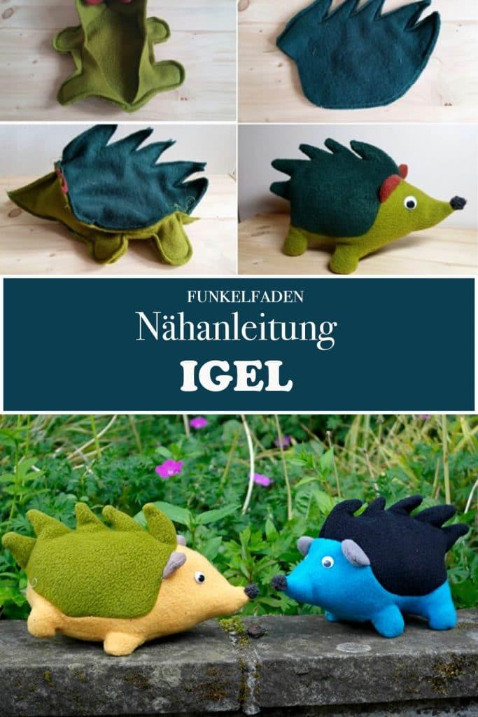 Nähanleitung Igel Kuscheltier