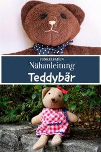 Teddybär nähen Freebook mit Gratis Schnittmuster Kuscheltier Bär