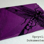 Anzeige Upcycling – Dokumentenmappe aus T-Shirt + Pappe