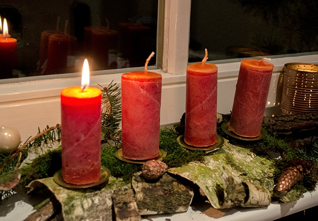 DIY Upcycling Adventskranz