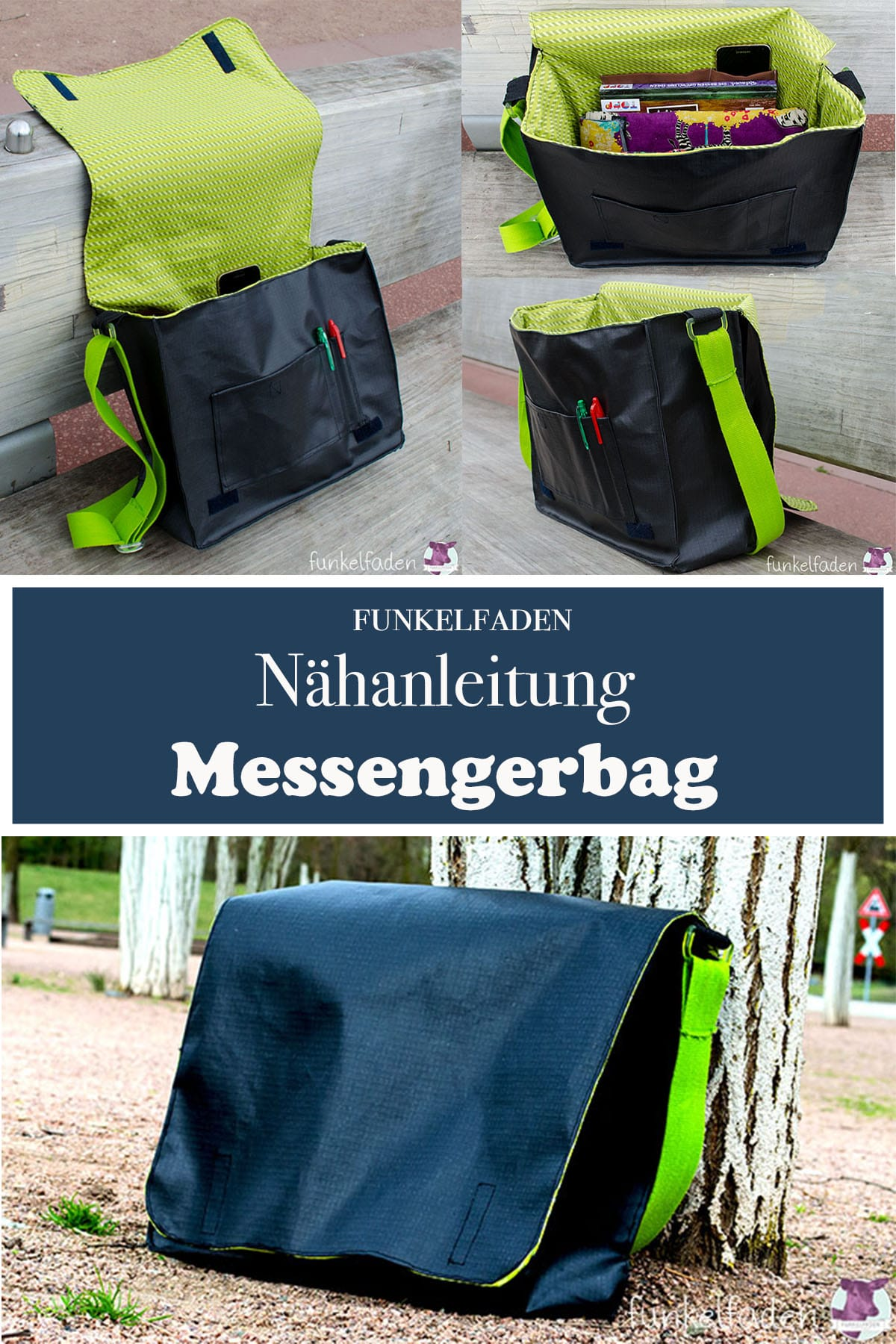 n hanleitung messenger bag n hen anleitungen do it yourself diy freebook n hen tasche. Black Bedroom Furniture Sets. Home Design Ideas