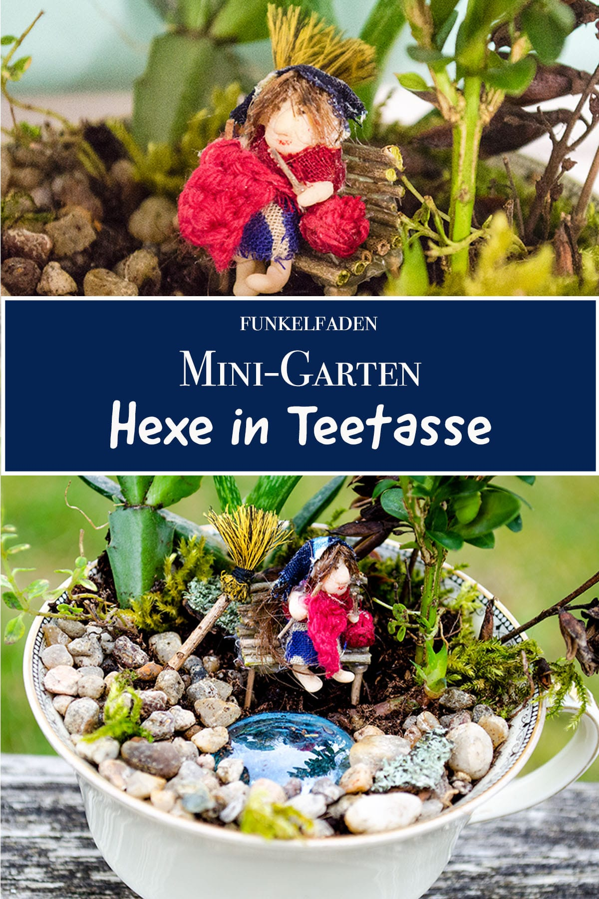 Fairy Garden in Teetasse Mini Feen Garten