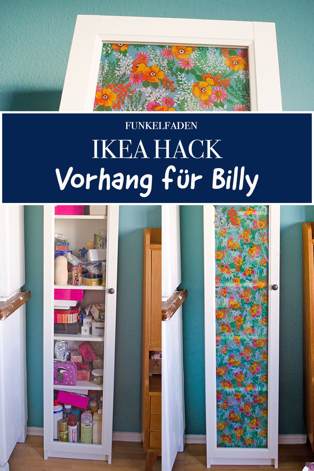 mini ikea hack billys t r wird bunt stoffcover f rs regal bauen anleitungen do it. Black Bedroom Furniture Sets. Home Design Ideas