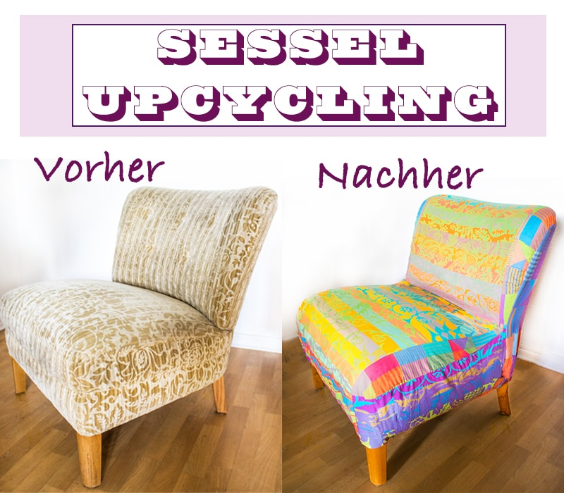 upcycling sessel neu beziehen mit polsterstoff anleitungen do it yourself interior. Black Bedroom Furniture Sets. Home Design Ideas