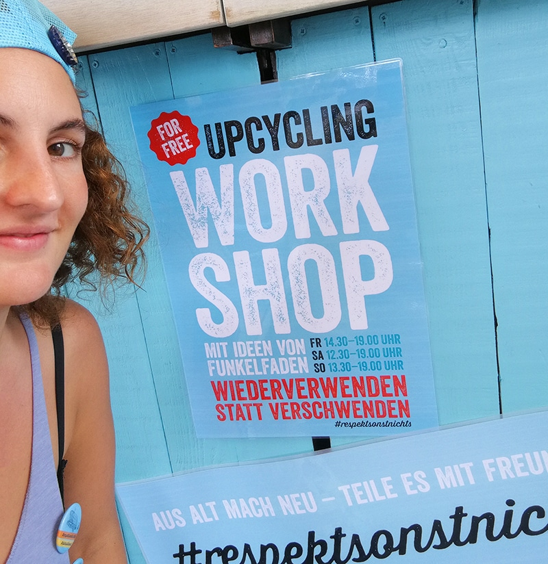 Upcycling Workshop auf dem MS Dockville