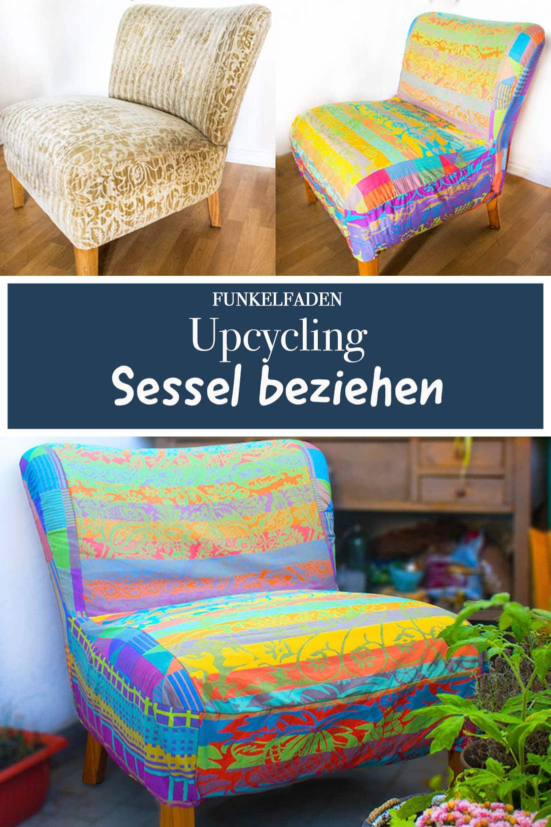 Upcycling Sessel beziehen
