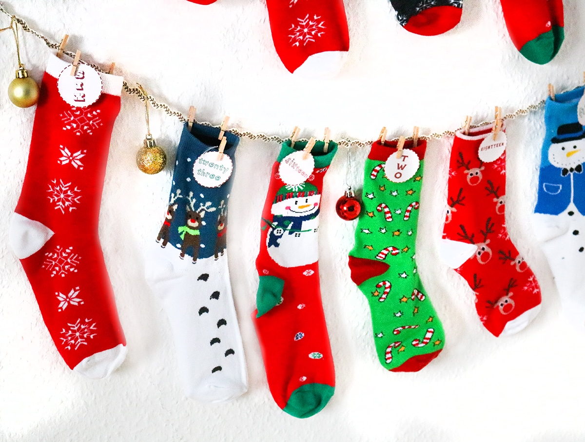 Adventskalender DIY mit Socken