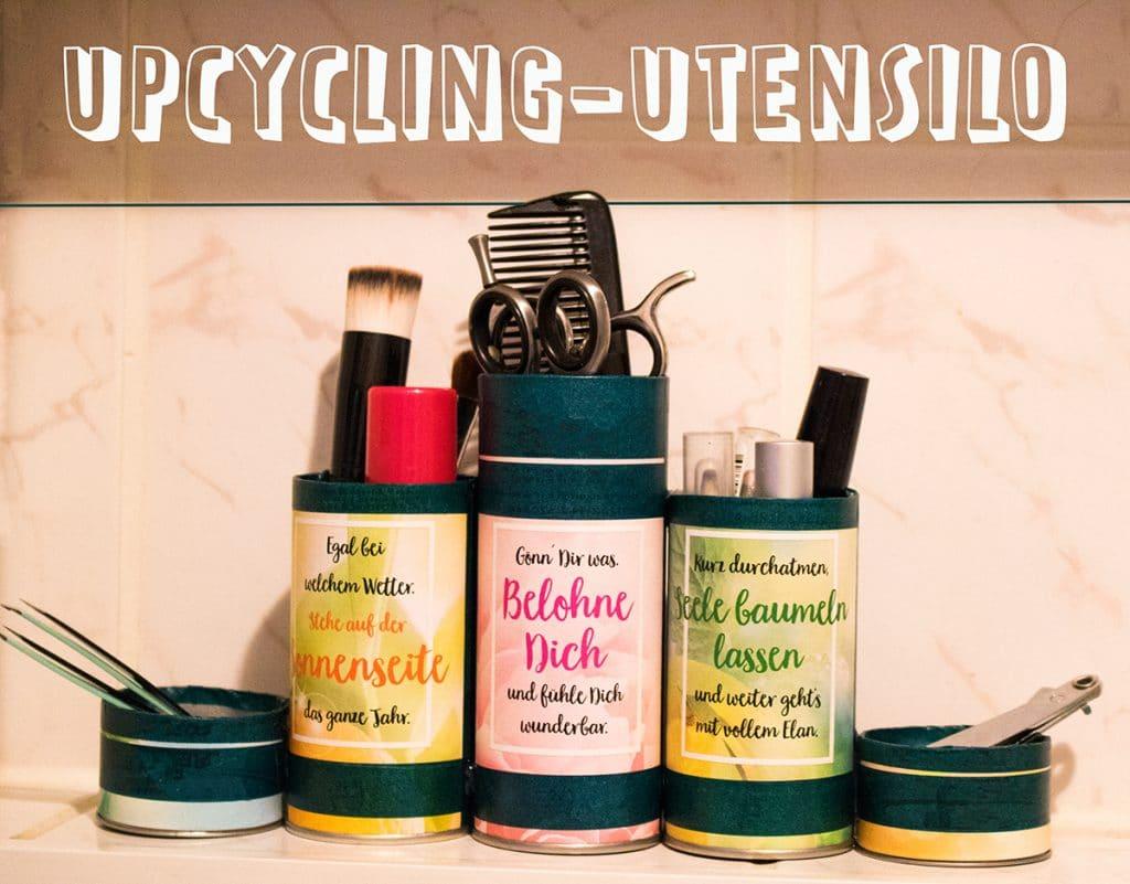 Upcycling Utensilo aus Badeperlen von Kneipp