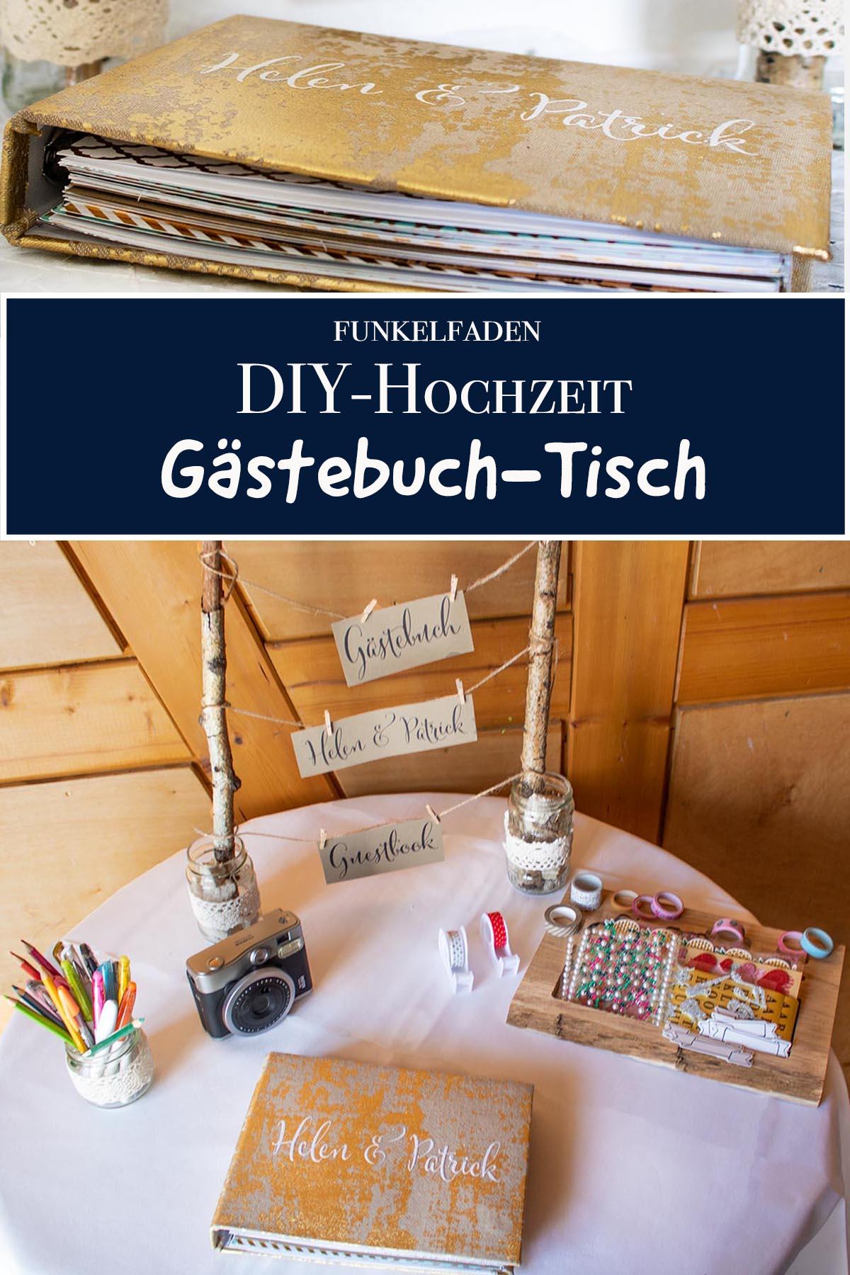 DIY - Gästebuch Tisch gestalten
