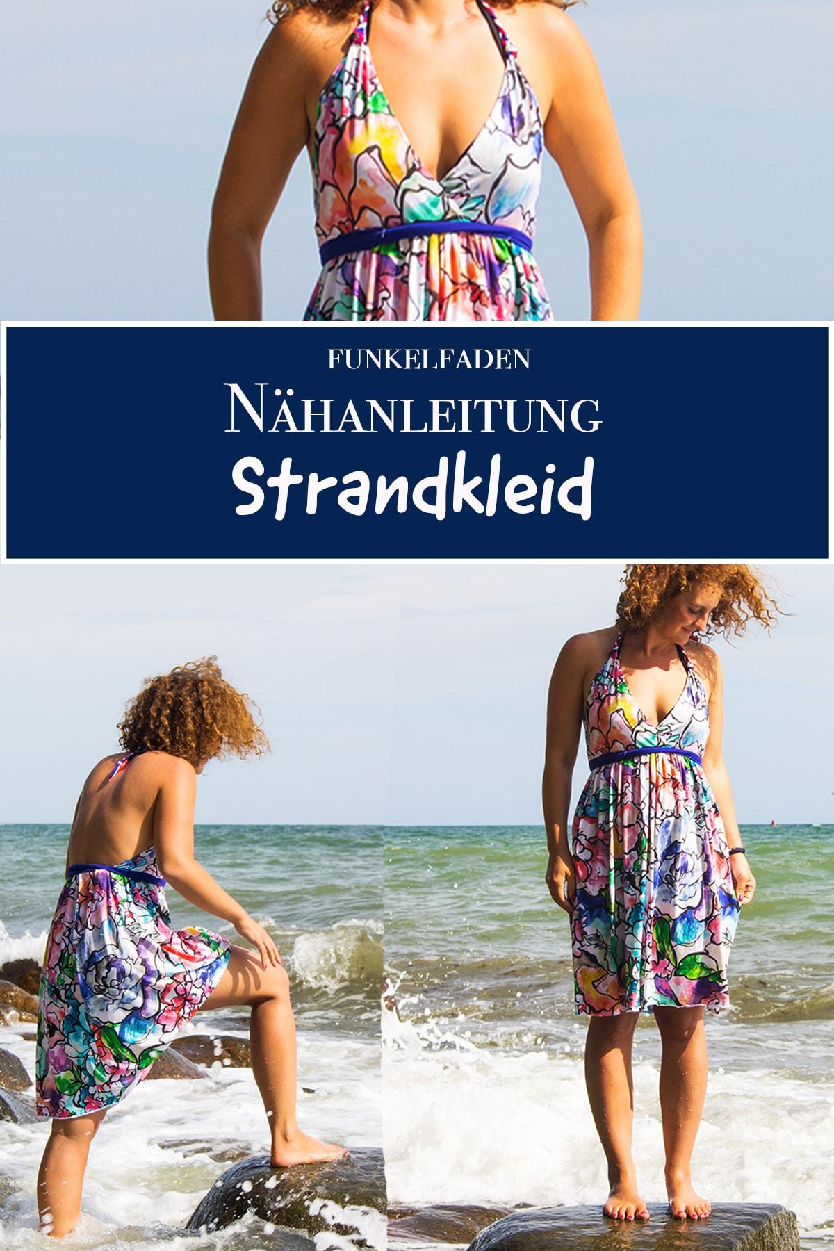 freebook - einfaches sommerkleid für den strand nähen für