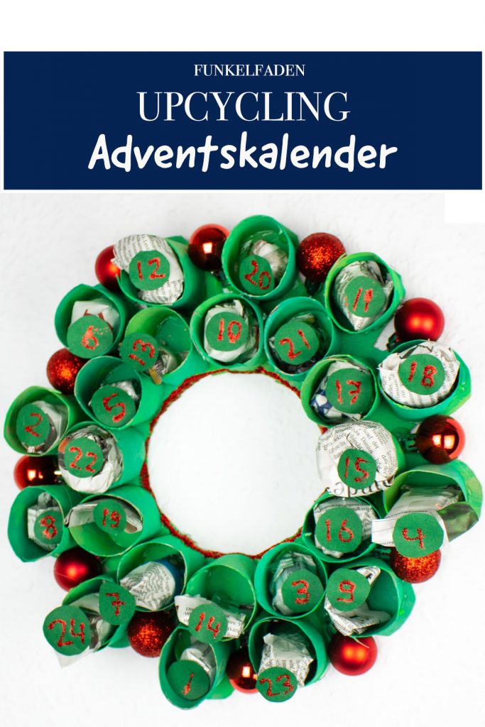 Upcycling Adventskalender aus Toilettenpapierrollen