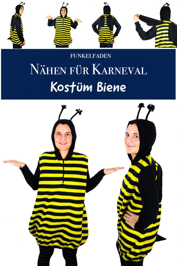 Kostüm Biene für Erwachsne nähen