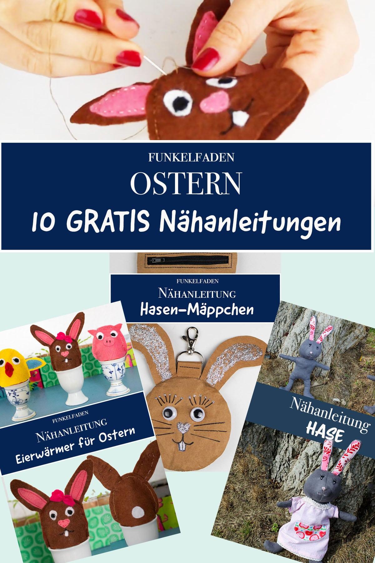 10 Gratis Nähanleitungen zu Ostern