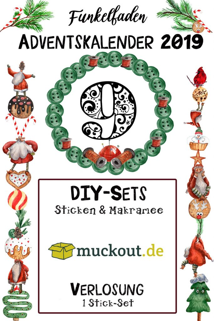 Funkelfaden Adventskalender Stick-Sets von muckout