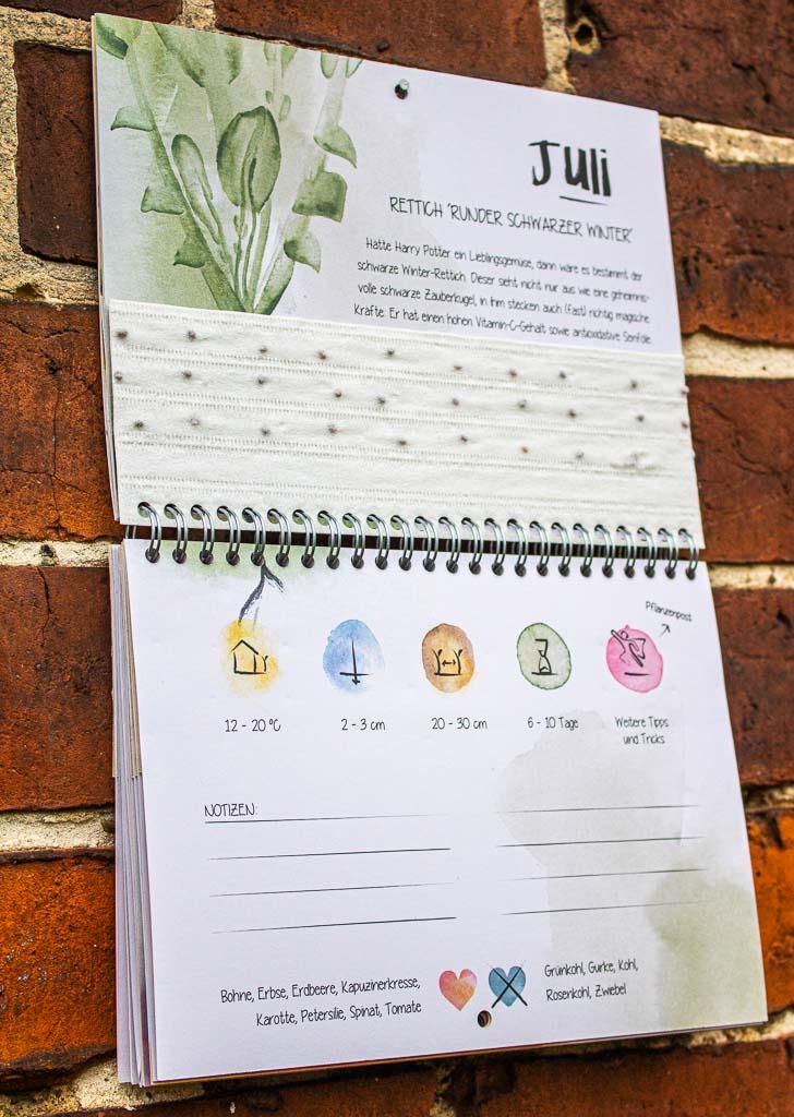 Der Wachsende Kalender - Garten Kalender 2021
