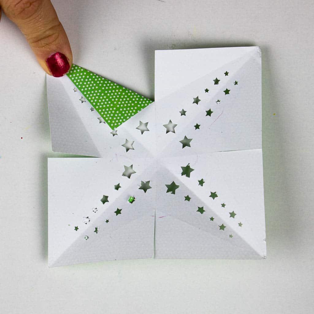 Sterne basteln - Funkelfaden Sternenkranz-1